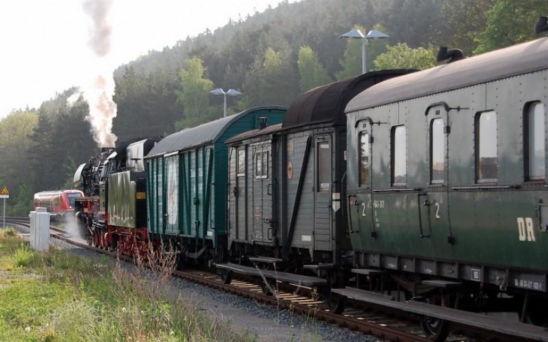 Mit der Dampfbahn zur Regenbogentour