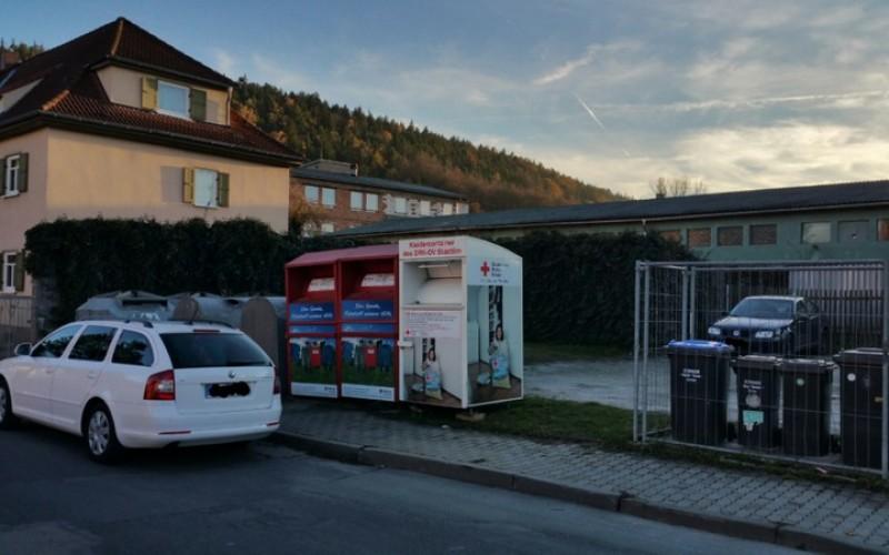 Neuer Stellplatz für den Kleidercontainer des DRK Ortsverein Stadtilm