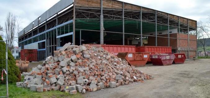 Baufortschritt Turnhallensanierung