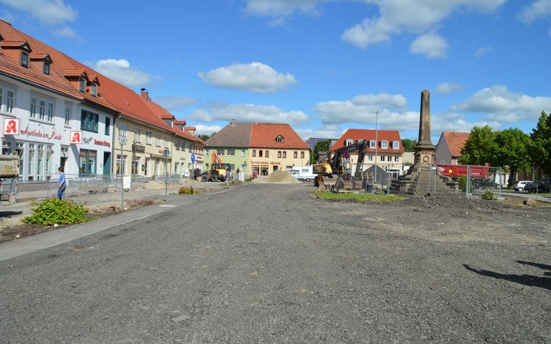 Baumaßnahme Marktplatz