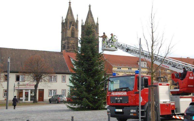 Weihnachtsbaum an neuer Stelle
