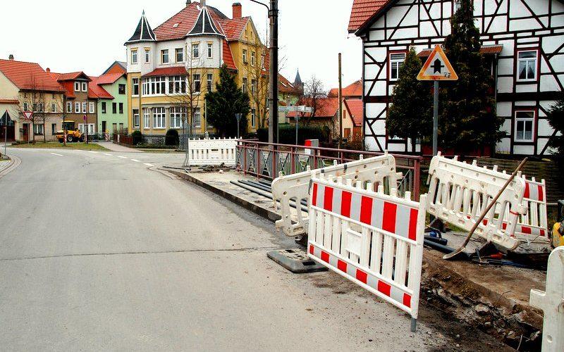 Tiefbauarbeiten der Thüringer Energienetze