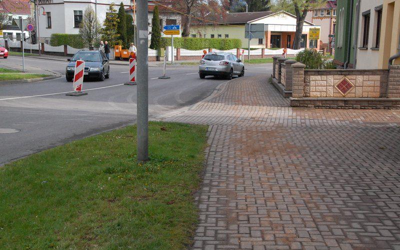 Gehweg Weimarische Straße