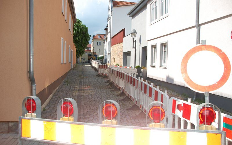 Baumaßnahme Thüringer Netze Hospitalstraße
