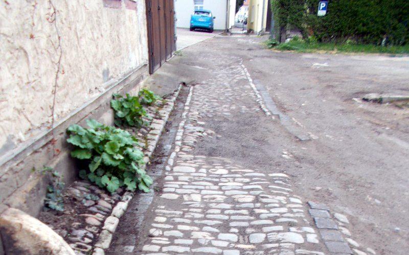 Sperrung der Gasse Weimarische Straße zur Unteren Marktstraße