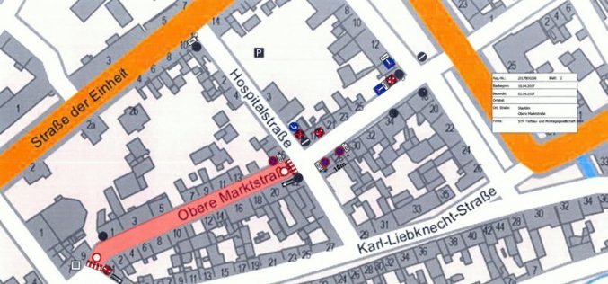Baumaßnahme Obere Marktstraße