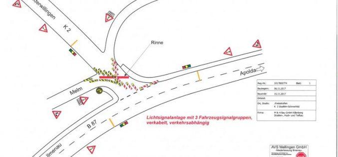 Instandsetzung Wasserablaufrinne Niederwillinger Straße/Melm