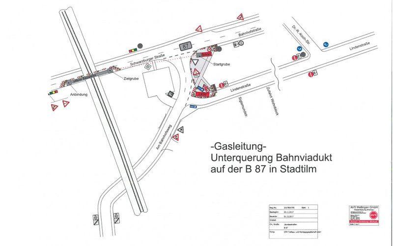 Bauarbeiten Schwarzburger Straße