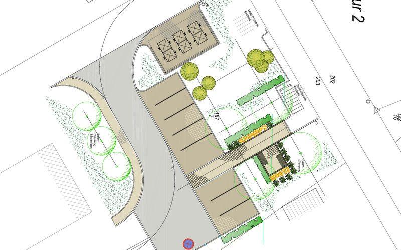 Baubeginn Parkplatz Feldstraße