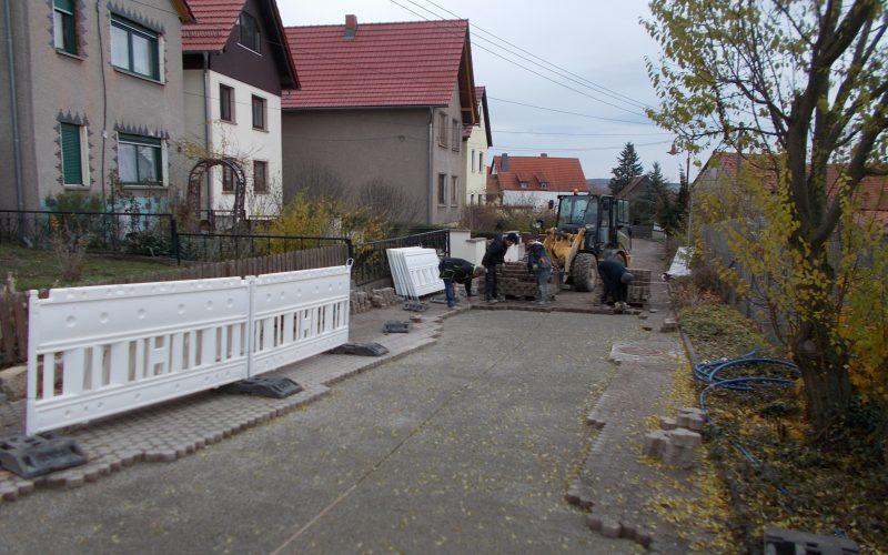 Fertigstellung Schlossgasse Großliebringen