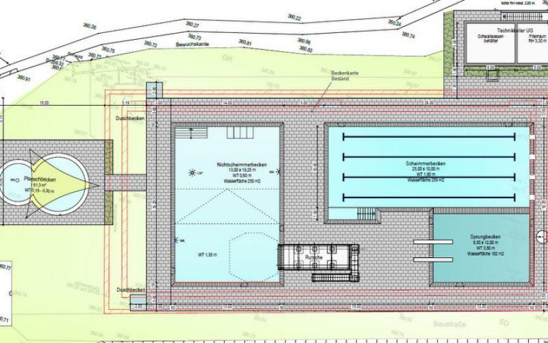 Baustart für den ersten Bauabschnitt zur Sanierung des Freibades