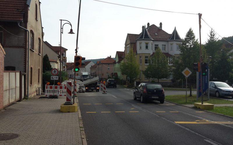 Verkehrseinschränkung Bahnhofstraße