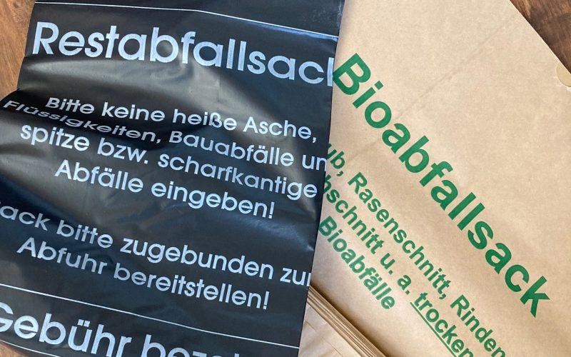 Informationen zum Erwerb von Bio- und Restabfallsäcken